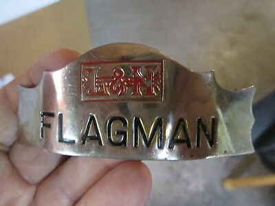 L&N Louisville & Nashville FLAGMAN Uniform Hat Badge w/Box Logo