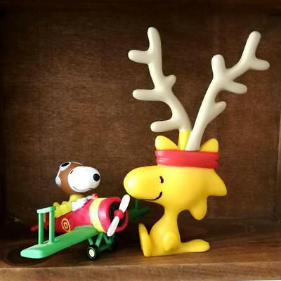 Peanuts Snoopy Mini Figure Pilot Snoopy and Woodstock Christmas Gift BIN