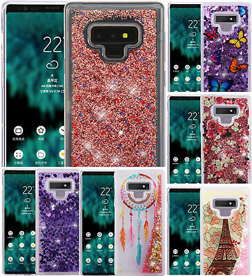 for Samsung Galaxy Note 9 - Hard TPU Rubber Floating Liquid Waterfall Case Cover