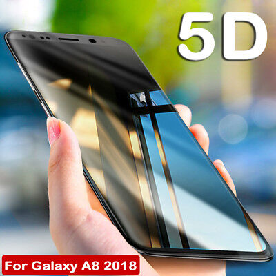 5D Curved Temper Glass Film Screen Protector for Samsung Galaxy A5 A7 A8 2018