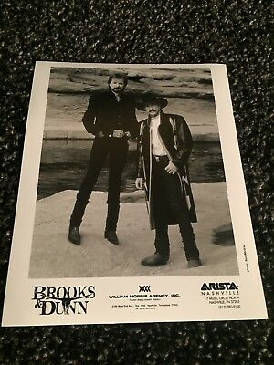 """BROOKS & DUNN promo only B&W 8"""" x 10"""" publicity photo RARE OOP Arista Records"""
