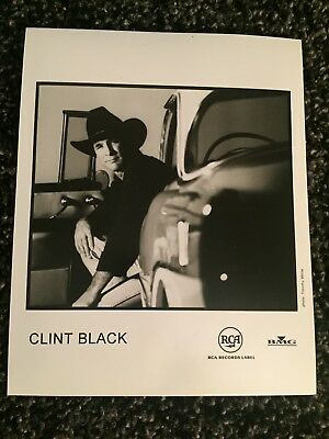 """CLINT BLACK promo only B&W 8"""" x 10"""" publicity photo RARE OOP RCA / BMG Records"""