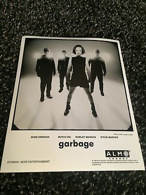 """GARBAGE promo only B&W 8"""" x 10"""" publicity photo RARE OOP Almo Sounds (1998)"""