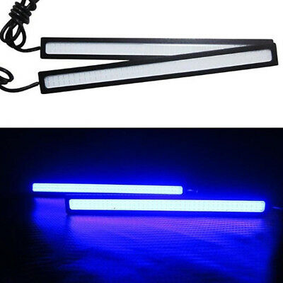Blue Super Bright Car COB LED Light DRL Fog Driving Lamp Waterproof DC 12V 17CM