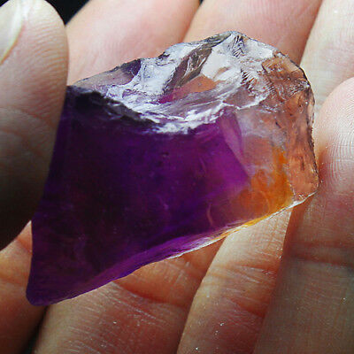 104Ct 100% Natural Purple & Yellow Ametrine Facet Rough Specimen YAE4836