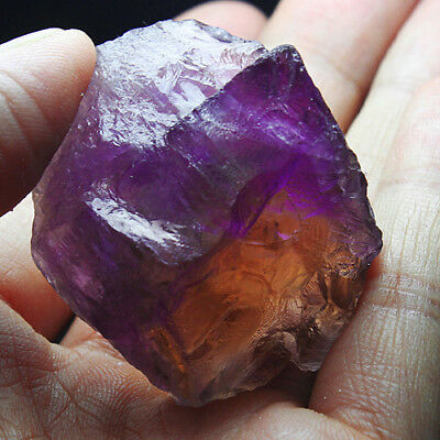 162Ct 100% Natural Purple & Yellow Ametrine Facet Rough Specimen YAE4837