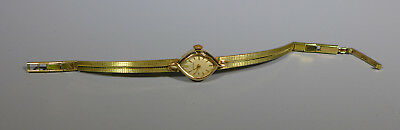 Vintage Swiss Made? Ladies Hermes Gold Plated Wrist Watch Working Order
