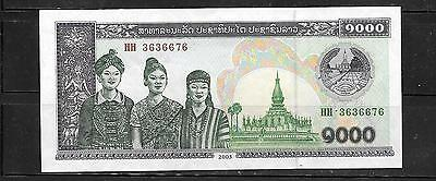 LAOS LAO #32Ab 2003 1000 KIP MINT UNC BANKNOTE NOTE CURRENCY PAPER MONEY