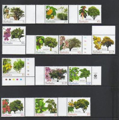 Barbados 2005 Flowering Trees 13 Mng Values Cat £26+