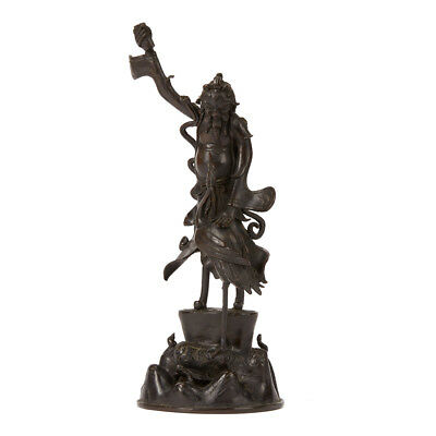 Antique Bronze Chinese Figural Incense Holder 19Th C.