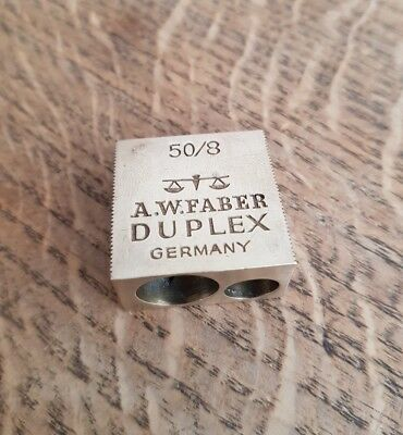 50/8 A.W. Faber Duplex Messing Anspitzer -made in Germany