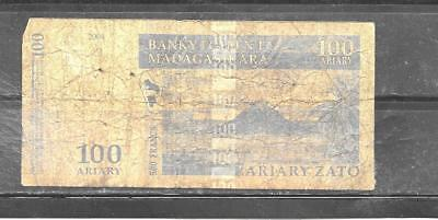 MADAGASCAR #86b 2004 AG CIRCULATED 100 ARIARY BANKNOTE BILL NOTE PAPER MONEY