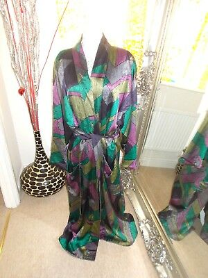 Mens Arturo Veneziani Vintage 80S? Dressing Gown Robe Gc M Designer Abstract