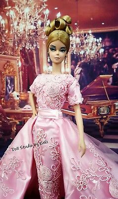 Pink Evening Dress Outfit Gown Fits Silkstone Barbie Fashion Royalty Model Muse