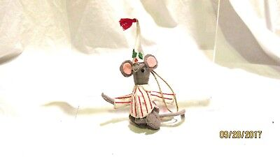 Handcrafted Christmas Mouse Ornament