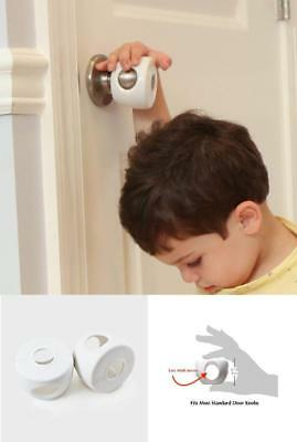 Door Knob Covers Child Proof 4 Pack Highest Quality Safety Tested Secure Blend