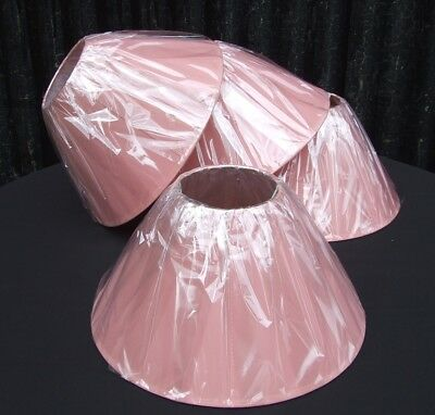 """Market / Car Boot JOB LOT 36 x Coolie 14"""" Lampshades - Colour ROSE - NEW FREE PP"""