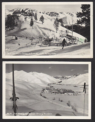 2-Idaho-Sun Valley-Photo-View from Penney Mtn-Round House-Bald Mtn-Postcard Lot