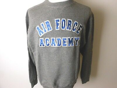 Air Force Academy Falcons Grey Adult Embroidered Crew Sweatshirt New