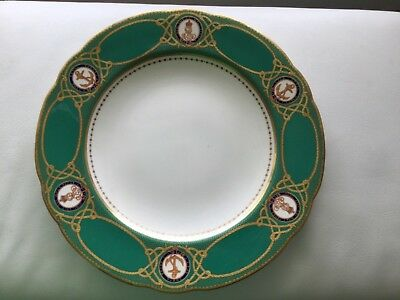 KING EDWARD VII porcelain dinner  plate from His Yatch state service.