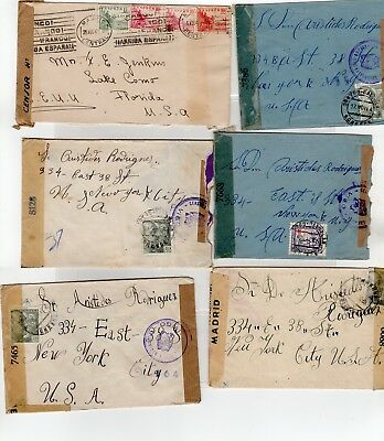 Spain Censor Covers Lot  (JB1279)
