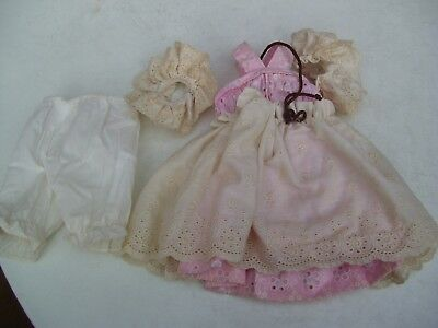 Alte Puppenkleidung Pink Summer Dress Outfit vintage Doll clothes 40 cm Girl