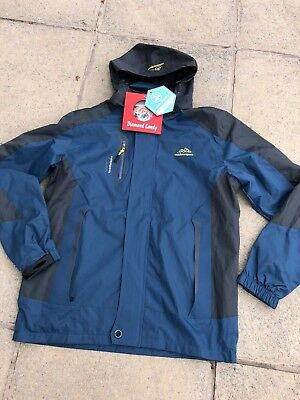 New Mens Oudoor Sports Diamond Candy Softshell  Water Wind Proof Jacket, Size S