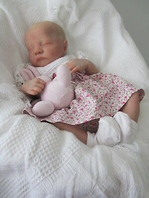 Marbeth Nursery Scotland reborn baby girl from  the Levi Kit by Bonnie Brown