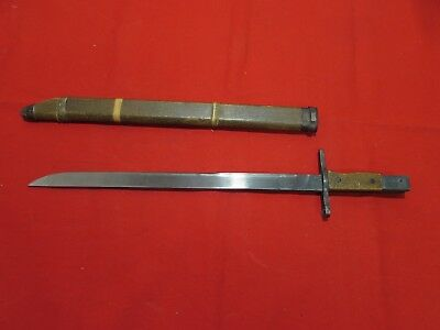 WWII Japanese Late War Last Ditch Bamboo Scabbard Bayonet GH