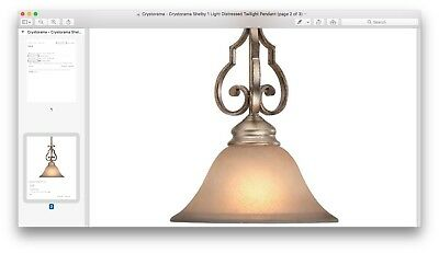3 Crystorama Shelby One-Light Mini Pendant Distressed Twilight Aged Brass