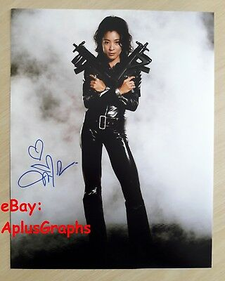 MICHELLE YEOH.. James Bond's Tomorrow Never Dies (11x14) SIGNED