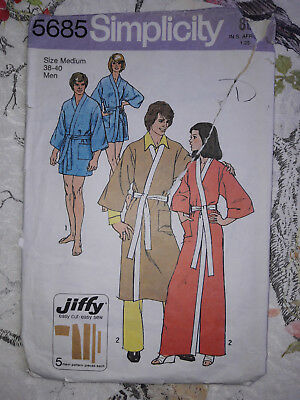 Vintage Simplicity 5685 Sewing Pattern - Dressing Gowns, Kimono Robe M 38-40