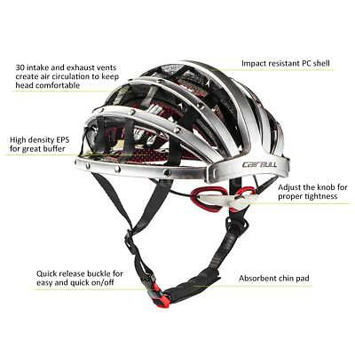 Foldable Bicycle Bike Helmet Cycling Riding Road Mountain Safety Helmets New
