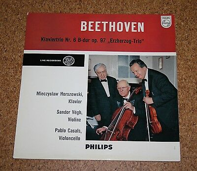 LP Beethoven Klaviertrio Nr 6 Horszowski Vegh Casals Philips A 00506 L