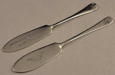 Two New Zealand Advertising Butter Knives British Empire Exhibition Wembley 1925