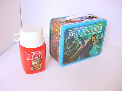 1983 Thermos Star Wars Return Of The Jedi Lunch Box & Thermos Luke Darth Vader