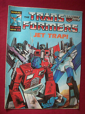 Vintage Transformers Comic 44 Marvel UK 1986 Complete Unmarked VGC As Seen