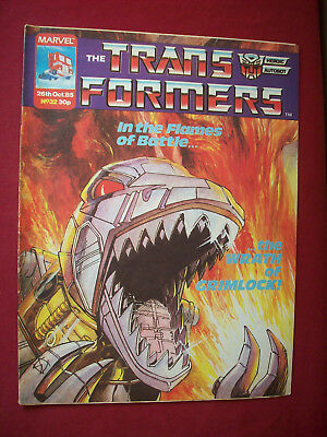 Vintage Transformers Comic 32 Marvel UK 1985 Complete Unmarked VGC As Seen