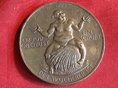 Orig.Old German NOT MEDAL 1923   DER WUCHERER