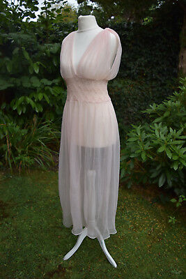 Vintage Romantic Seductive Floaty Sheer Nylon Nightdress Nightie Negligee GMC