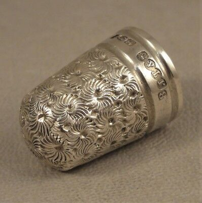 Victorian Size 8 Antique Silver Thimble John Thompson & Sons Chester 1890