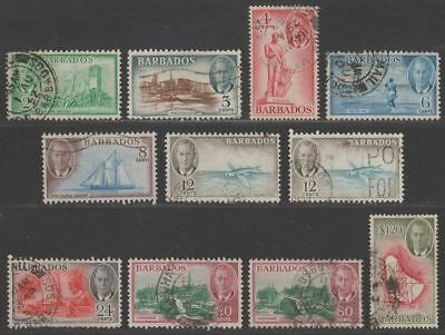 Barbados 1950 King George VI Part Set to $1.20 Used