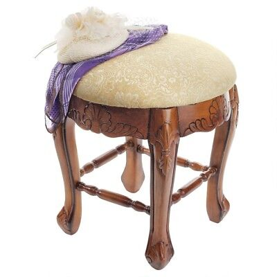 Lady Annette Boudoir Design Toscano Hand Carved Antique Replica Stool