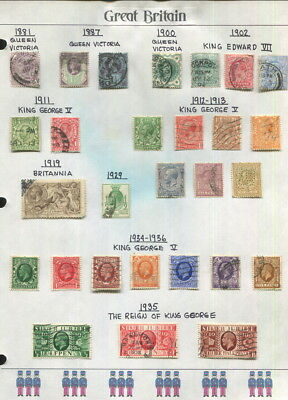 Great Britain On Album Pages 1881 To 1960-Some Mnh In Mounts!