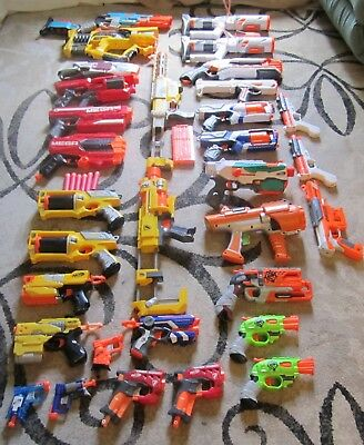 Lot of 32 Nerf Guns  *NO PO BOXES PLEASE**
