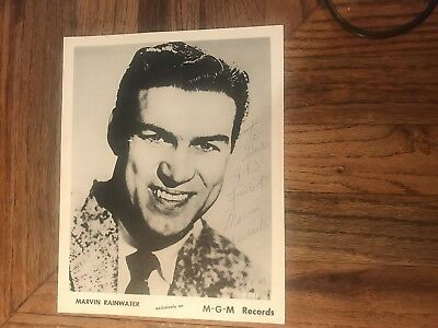 Marvin Rainwater Rockabilly SingerAutographed Photograph To Gus & Family 1950's