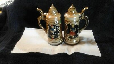 GORGEOUS VINTAGE PORCELAIN SALT and PEPPER SHAKERS
