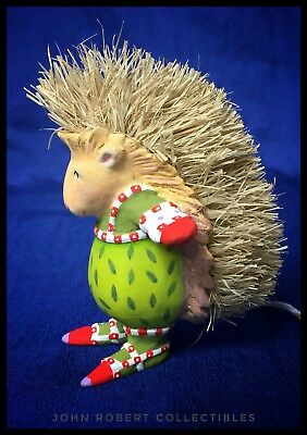 Patience Brewster Krinkles Peety Porcupine Mini Christmas Ornament 31231