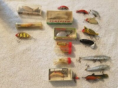 Lot Of  Antique Style Fishing Lures Some  Tackle With Original Boxes !!!