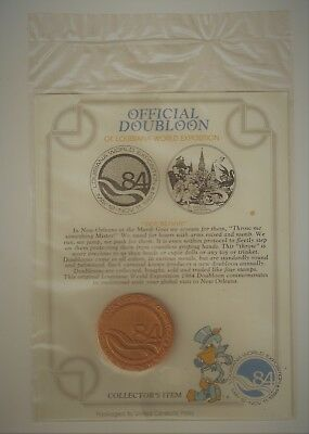 1984 New Orleans Louisiana World's Fair Exposition Doubloon Original Package